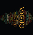 french opera text background word cloud concept vector image vector image