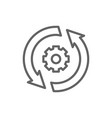 gear wheel with two arrow process system update vector image