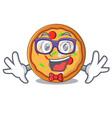 geek pizza character cartoon style vector image vector image