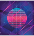 geometric graphic style with neon trendy vector image vector image