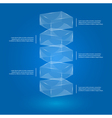 glass cube infographic vector image