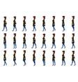 graduate girl walk cycle animatio sequence loop vector image vector image