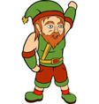 green happy young gnome vector image vector image