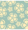 Grunge Retro flower pattern background seamless vector image