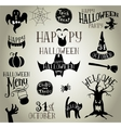 Halloween vintage silhouettes vector image vector image
