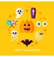 Happy Halloween Flat Concept vector image