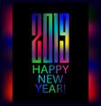 happy new year 2019 vector image vector image