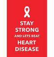 heart disease poster vector image vector image