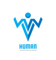 human character - business logo template vector image vector image