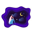 insomnia problem fatidue sleep disorder concept vector image vector image