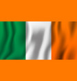 ireland realistic waving flag national country vector image