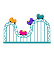 isolated roller coaster icon vector image