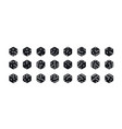 isometric dice variants black game cubes isolated vector image