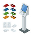 isometric set online payment systems and vector image vector image