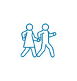joint leisure linear icon concept joint leisure vector image