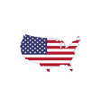 made in usa us flag map silhouette isolated vector image vector image