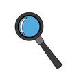 magnifier search loupe discovery find zoom vector image vector image