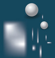 marine blue abstract background with 3d balls a vector image vector image