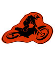 moto enduro background icon sticker design vector image vector image