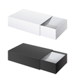 Package Cardboard Sliding Box Opened vector image vector image