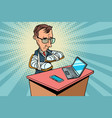 people with broken arms and gadgets vector image