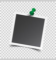 photo frame with pin on isolated background for vector image vector image