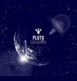 pluto the planet responsible in astrology for the vector image