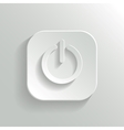Power icon - white app button vector image vector image