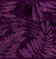 purple violet tropical seamless pattern vector image