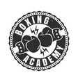 retro sport logo for boxing academy vector image vector image