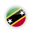 Saint Kitts and Nevis icon circle vector image