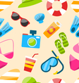Seamless Pattern with Tourism Objects vector image vector image
