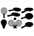 set different ping pong rackets vector image vector image