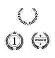 set laurel wreaths on white background vector image vector image