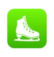 skates icon digital green vector image vector image