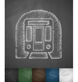 subway car icon vector image