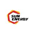 Sun energy logo vector image vector image