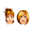 teenage girl with a pimple on her face vector image vector image