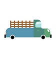 truck isolated cartoon style transport on white vector image vector image