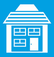 two-storey house with sloping roof icon white vector image vector image