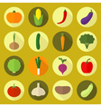 Vegetable big set vector image