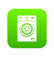washer icon green vector image
