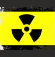 worn radioactive warning symbol vector image