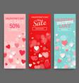 sale header for happy valentines day celebration vector image