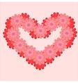 flower heart vector image
