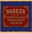 a vintage serif font in western style vector image vector image