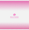 abstract striped pink dotted halftone effect vector image