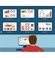analytic information info graphic and development vector image