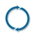 arrow blue direction design vector image vector image