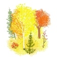background with autumn forest vector image